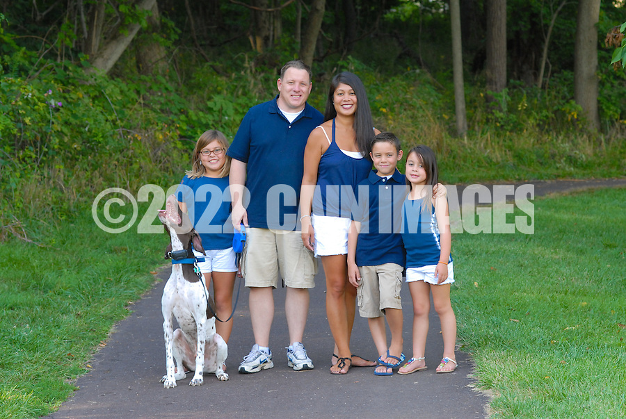 8/7/12 5:47:36 PM - Doylestown, PA. -- The Christie family is photographed August 7, 2012 in Doylestown, Pennsylvania. -- (Photo by William Thomas Cain/Cain Images)... -- ...Photo by William Thomas Cain, Freelance.