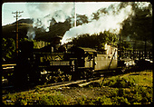 D&amp;RGW #489 with electrical transformer to right in background.<br /> D&amp;RGW