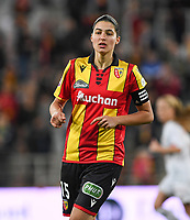 20191102 - LENS , FRANCE : Arras' Loreen Herbet pictured during the female soccer match between Arras Feminin and Lille OSC feminin, on the 8th matchday in the French Women's Ligue 2 – D2 at the Stade Bollaert Delelis stadium , Lens . Saturday 2 November 2019 PHOTO DAVID CATRY | SPORTPIX.BE