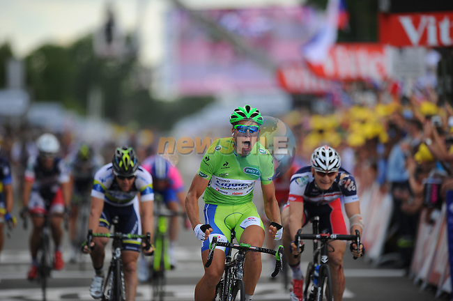Peter Sagan (SVK) Liquigas-Cannondale wins Stage 6 running from Epernay to Metz during the 99th edition of the Tour de  France, 6th July 2012 (Photo by Tim de Waele/ASO/NEWSFILE)