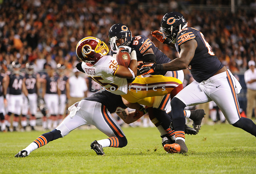 EVAN ROYSTER (35), of the Washington Redskins, in action during the Redskins game against the Chicago Bears on August 18, 2012 at Soldier Field in Chicago, IL. The Bears beat the Redskins 33-31.