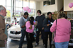 Guiding Light's actors Zack Conroy - Karla Mosley - fans on October 1, 2009 in Pittsburgh, PA area as the actors visit Moon Township Honda after going to the various GO PINK Panera Bread locations. Proceeds from pink ribbon bagel sales will benefit the Young Women's Breast Cancer Awareness Foundation. (Photo by Sue Coflin/Max Photos)