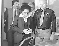 Wayne B. Williams leaves the Fulton County Jail in Atlanta to go to court where he will continue testifying in his trial on charges of killing two young Atlanta blacks, Feb. 23, 1982. (AP Photo/Gary Gardiner)