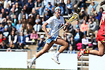 27 February 2016: North Carolina's Marie McCool. The University of North Carolina Tar Heels hosted the University of Maryland Terrapins in a 2016 NCAA Division I Women's Lacrosse match. Maryland won the game 8-7.