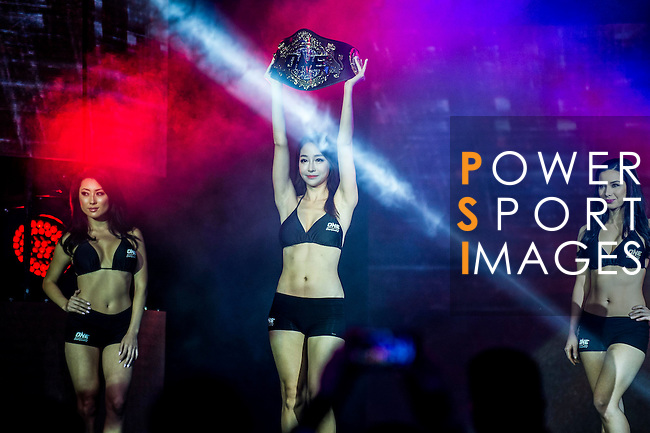 One Championship - Heroes of the World Ring Girl on 13 August 2016 at The Venetian Macao Cotai Arena in Macau, China. Photo by Marcio Machado / Power Sport Images
