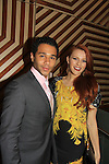 """One Life To Live's Corbin Bleu poses with Amber Skye Noyes (new new on show) at New York Premiere Event for beloved series """"One Life To Live"""" on April 23, 2013 at NYU Skirball, New York City, New York - as The Online Network (TOLN) - OLTL - AMC begin airing on April 29, 2013 on Hulu and Hulu Plus.  (Photo by Sue Coflin/Max Photos)"""