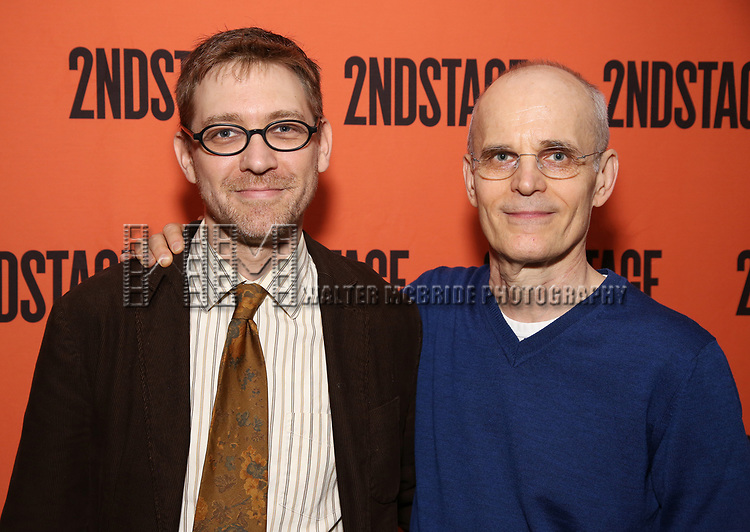 Greg Pierce and Zeljko Ivanek attend the Opening Night performance of 'A Parallelogram'  at The Second Stage Theatre on August 2, 2017 in New York City.