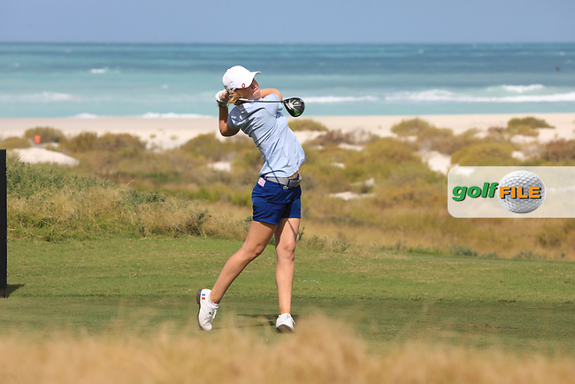 Camille Chevalier (FRA) during the second round of the Fatima Bint Mubarak Ladies Open played at Saadiyat Beach Golf Club, Abu Dhabi, UAE. 11/01/2019<br /> Picture: Golffile | Phil Inglis<br /> <br /> All photo usage must carry mandatory copyright credit (&copy; Golffile | Phil Inglis)
