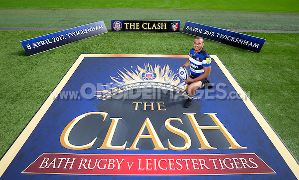 "Jonathan Joseph of Bath Rugby. Bath Rugby Photocall for ""The Clash"" on September 22, 2016 at Twickenham Stadium in London, England. Photo by: Andrew Fosker / Onside Images"