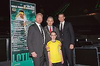 09-02-13, Tennis, Rotterdam, qualification ABNAMROWTT, Draw,l.t.r., Boris Becker and Mr. Aboutaleb major of Rotterdam and tournament director Richard Krajicek