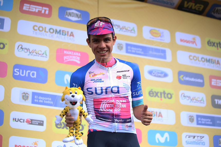 TUNJA - COLOMBIA, 14-02-2020: Cuarta etapa del Tour Colombia 2.1 2020 con un recorrido de 168,6 km que se corrió entre Paipa y Santa Rosa de Viterbo, Boyacá. / Fourth stage of 168,6 km as part of Tour Colombia 2.1 2020 that ran between Paipa and Santa Rosa de Viterbo, Boyaca.  Photo: VizzorImage / Darlin Bejarano / Cont