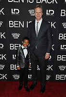 NE WYORK, NY - DECEMBER 3: Jakari Frazier and Peter Hedges at the New York Premiere Of Ben Is Back at AMC Loews Lincoln Square in New York City on December 3, 2018. <br /> CAP/MPI/JP<br /> &copy;JP/MPI/Capital Pictures