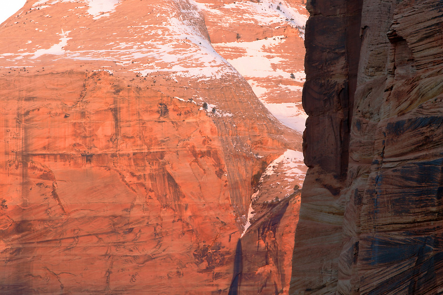 Canyon walls, Zion National Park, Washington County, UT