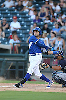 Emmanuel Rivera (9) of the AZL Royals bats during a game against the AZL Mariners at Surprise Stadium on July 4, 2015 in Surprise, Arizona. Mariners defeated the Royals, 7-4. (Larry Goren/Four Seam Images)