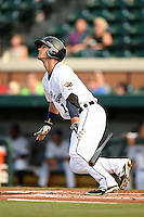 Lakeland Flying Tigers outfielder Jeff McVaney (14) during a game against the Tampa Yankees on April 5, 2014 at Joker Marchant Stadium in Lakeland, Florida.  Lakeland defeated Tampa 3-0.  (Mike Janes/Four Seam Images)