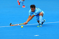 Chinglensana Kangujam of India during the Hockey World League Quarter-Final match between India and Malaysia at the Olympic Park, London, England on 22 June 2017. Photo by Steve McCarthy.