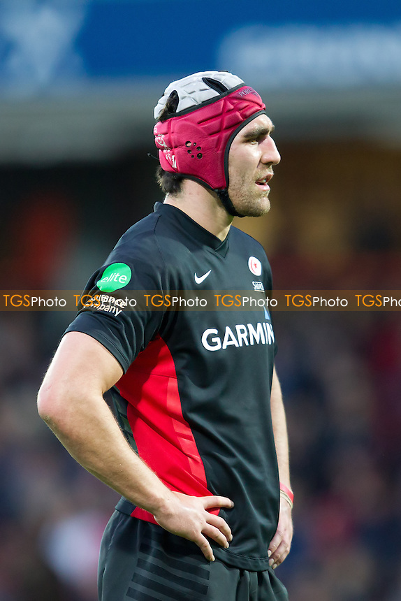 Kelly Brown (Saracens RFC) - Saracens RFC vs Sale Sharks RFC - Aviva Premiership Rugby at Vicarage Road Stadium, Watford Football Club - 06/11/11 - MANDATORY CREDIT: Ray Lawrence/TGSPHOTO - Self billing applies where appropriate - 0845 094 6026 - contact@tgsphoto.co.uk - NO UNPAID USE.