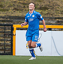 Queen of the South's Iain Russell celebrates after he scores their second goal.