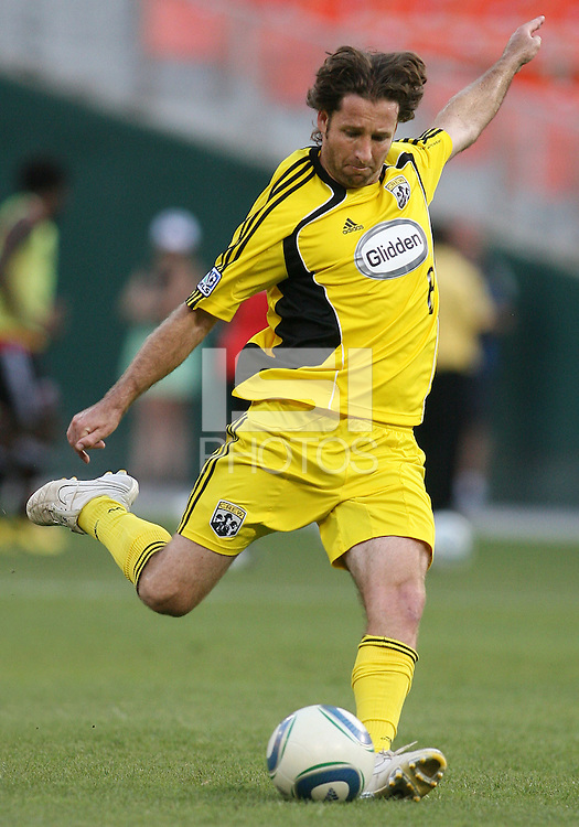 Duncan Oughton #8 of the Columbus Crew during a US Open Cup semi final match against D.C. United at RFK Stadium on September 1 2010, in Washington DC. Crew won 2-1 aet.