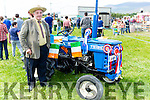 Jerry Cremins Castleisland with his multi award winning TS1910 tractor at the Castlemaine harvest and vintage show on Sunday