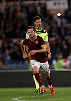 Calcio, Serie A: Roma vs Empoli. Roma, stadio Olimpico, 17 ottobre 2017.<br /> Roma&rsquo;s Miralem Pjanic celebrates after scoring during the Italian Serie A football match between Roma and Empoli at Rome's Olympic stadium, 17 October 2015.<br /> UPDATE IMAGES PRESS/Isabella Bonotto