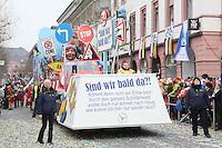 Mottowagen mit Kritik am Schilderwald - Rosenmontagsumzug in Mainz