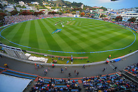 A general view during day one of the 2nd cricket test match between the New Zealand Black Caps and Sri Lanka at the Hawkins Basin Reserve, Wellington, New Zealand on Saturday, 3 February 2015. Photo: Dave Lintott / lintottphoto.co.nz