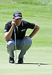 August 5, 2012: Alexandre Rocha lines up a putt on the 5th green during the final round of the 2012 Reno-Tahoe Open Golf Tournament at Montreux Golf & Country Club in Reno, Nevada.
