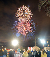 Historic Lukens Clock Rededication and Fireworks in Hatboro, Pennsylvania