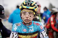 Jolien Verschueren (BEL) post-race<br /> <br /> Elite Women's Race<br /> <br /> 2015 UCI World Championships Cyclocross <br /> Tabor, Czech Republic