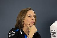 29th November 2019; Yas Marina Circuit, Abu Dhabi, United Arab Emirates; Formula 1 Abu Dhabi Grand Prix, practice day; Claire Williams, Deputy Team Principal of ROKiT Williams Racing - Editorial Use