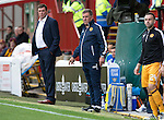 Motherwell v St Johnstone&hellip;13.08.16..  Fir Park<br />Motherwell boss Mark McGhee<br />Picture by Graeme Hart.<br />Copyright Perthshire Picture Agency<br />Tel: 01738 623350  Mobile: 07990 594431