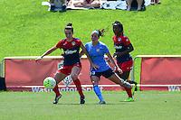 Boyds, MD - Sunday July 31, 2016: Christine Nairn, Erin Simon during a regular season National Women's Soccer League (NWSL) match between the Washington Spirit and Sky Blue FC at Maureen Hendricks Field, Maryland SoccerPlex.