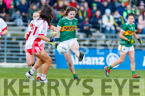Hannah O'Donoghue, Kerry scores her side's third goal during the Lidl Ladies National Football League Division 2 Round 4 match between Kerry and Tyrone at Fitzgerald Stadium on Sunday.