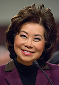Elaine Chao testifies before the United States Senate Committee on Commerce, Science, and Transportation as it considers her nomination to be Secretary of the Department of Transportation on Capitol Hill in Washington, DC on Wednesday, January 11, 2017.<br /> Credit: Ron Sachs / CNP