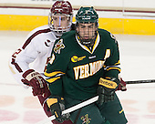 Kevin Hayes (BC - 12), Chris McCarthy (UVM - 3) - The Boston College Eagles defeated the University of Vermont Catamounts 4-1 on Friday, February 1, 2013, at Kelley Rink in Conte Forum in Chestnut Hill, Massachusetts.