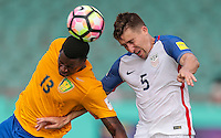 St. Vincent and the Grenadines - September 2, 2016: The U.S. Men's National team take a 2-0 first half lead over St. Vincent and the Grenadines from a goal by Matt Besler in a World Cup Qualifier (WCQ) match at Arnos Vale Stadium.
