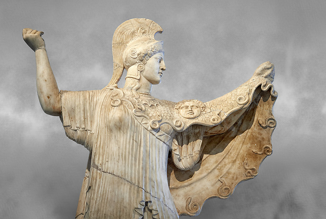 Roman statue of goddes Athena from the tablinum of the Villa of the Papyri in Herculaneum, Museum of Archaeology, Italy