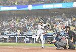 Shogo Akiyama (JPN),<br /> MARCH 21, 2017 - WBC :<br /> Shogo Akiyama of Japan at bat during the 2017 World Baseball Classic Semifinal game between United States 2-1 Japan at Dodger Stadium in Los Angeles, California, United States. (Photo by AFLO)