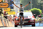 European Champion Matteo Trentin (ITA) Mitchelton-Scott wins Stage 17 of the 2019 Tour de France running 200km from Pont du Gard to Gap, France. 24th July 2019.<br /> Picture: ASO/Alex Broadway | Cyclefile<br /> All photos usage must carry mandatory copyright credit (© Cyclefile | ASO/Alex Broadway)