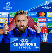 4th December 2017, Rome, Italy; AS Roma press conference ahead of the Champions league match versus FK Qarabag; captain Daniele De Rossi
