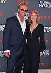 "Jake Busey  and wife arrives at the LA Premiere Of Netflix's ""Murder Mystery"" at Regency Village Theatre on June 10, 2019 in Westwood, California"