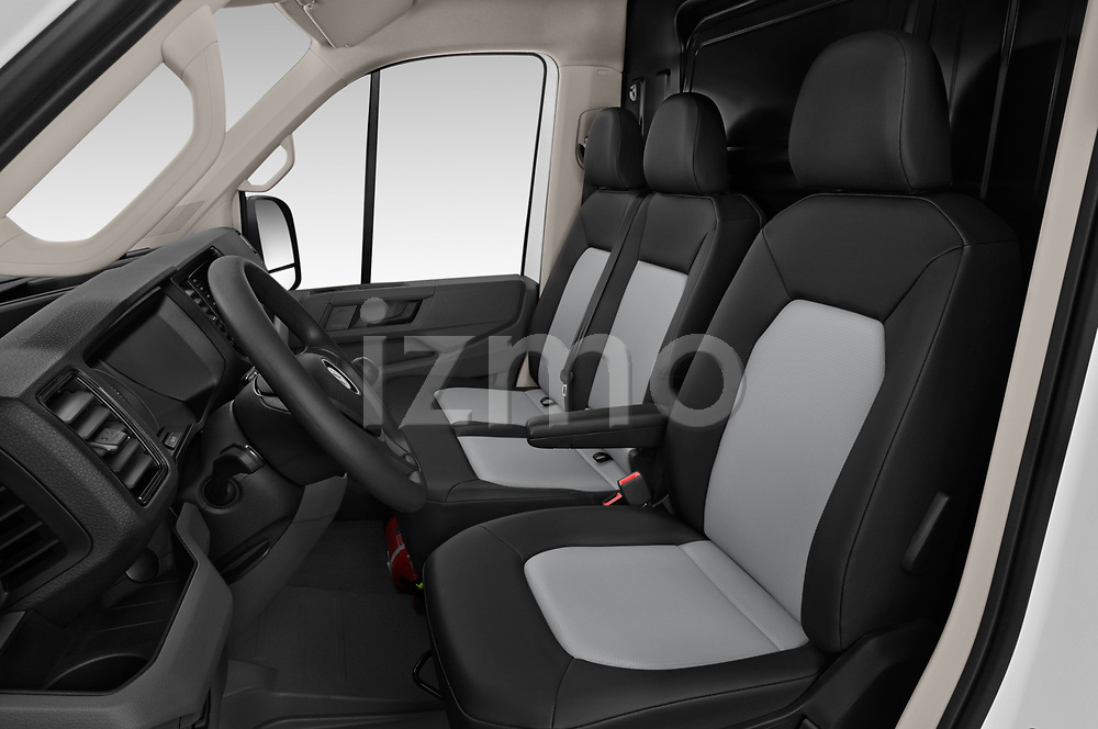 Front seat view of a 2019 Volkswagen Crafter Base 4 Door Cargo Van front seat car photos