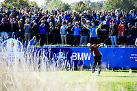 Sergio Garcia (Team Europe) during the Saturday Fourballs at the Ryder Cup, Le Golf National, Paris, France. 29/09/2018.<br /> Picture Phil Inglis / Golffile.ie<br /> <br /> All photo usage must carry mandatory copyright credit (© Golffile | Phil Inglis)