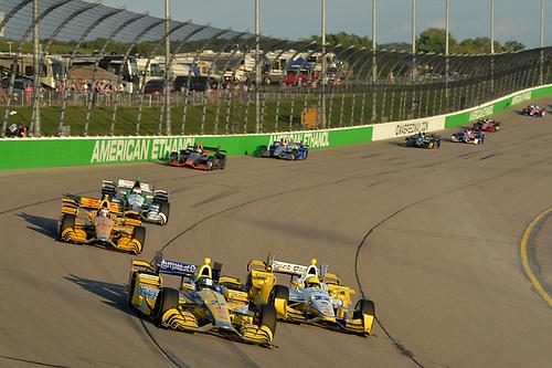17-18 July, 2015, Newton, Iowa USA<br /> Marco Andretti, Simon Pagenaud<br /> ©2015 Scott R LePage <br /> LAT Photo USA