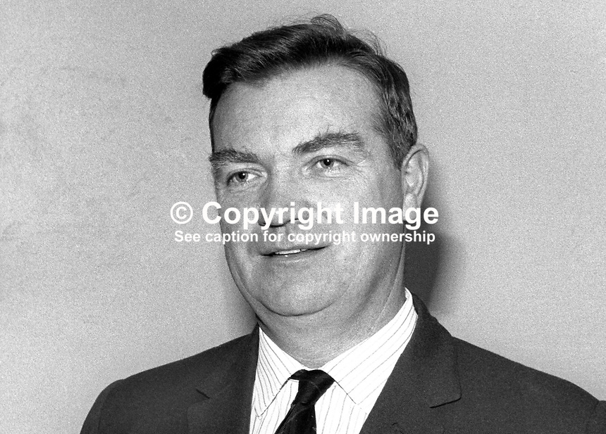 Walter Scott, chairman, Emerald Airways, N Ireland, October 1965, 19651000007<br /> <br /> Copyright Image from Victor Patterson, 54 Dorchester Park, <br /> Belfast, UK, BT9 6RJ<br /> <br /> t1: +44 28 9066 1296 (from Rep of Ireland 048 9066 1296)<br /> t2: +44 28 9002 2446 (from Rep of Ireland 048 9002 2446)<br /> m: +44 7802 353836<br /> <br /> e1: victorpatterson@me.com<br /> e2: victorpatterson@gmail.com<br /> <br /> www.victorpatterson.com<br /> <br /> Please see my Terms and Conditions of Use at www.victorpatterson.com. It is IMPORTANT that you familiarise yourself with them.<br /> <br /> Images used on the Internet must be visibly watermarked i.e. &copy; Victor Patterson within the body of the image and copyright metadata must not be deleted. Images used on the Internet have a size restriction of 4kbs and will be chargeable at current NUJ rates unless agreed otherwise.<br /> <br /> This image is only available for the use of the download recipient i.e. television station, newspaper, magazine, book publisher, etc, and must not be passed on to any third party. It is also downloaded on condition that each and every usage is notified within 7 days to victorpatterson@me.com<br /> <br /> The right of Victor Patterson to be identified as the author is asserted in accordance with The Copyright Designs And Patents Act (1988).
