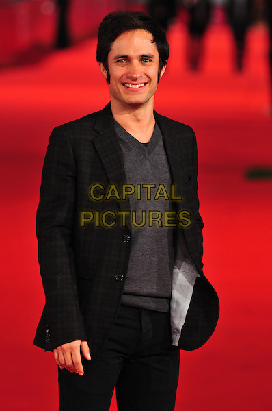 "GAEL GARCIA BERNAL.The ""8"" Premiere during the 3rd Rome International Film Festival, Auditorium Parco della Musica, Rome, Italy..October 23rd, 2008.eight half length black suit jacket .CAP/CAV.©Luca Cavallari/Capital Pictures."