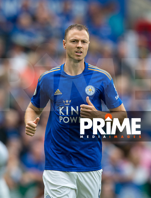 Jonny Evans of Leicester City during the Premier League match between Leicester City and Wolverhampton Wanderers at the King Power Stadium, Leicester, England on 10 August 2019. Photo by Andy Rowland.