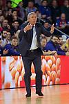 Turkish Airlines Euroleague 2017/2018.<br /> Regular Season - Round 23.<br /> FC Barcelona Lassa vs R. Madrid: 74-101.<br /> Svetislav Pesic.