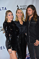 LOS ANGELES, CA. February 08, 2019: Miley Cyrus, Letitia Cyrus &amp; Billy Ray Cyrus at the 2019 MusiCares Person of the Year Gala honoring Dolly Parton at the Los Angeles Convention Centre.<br /> Picture: Paul Smith/Featureflash